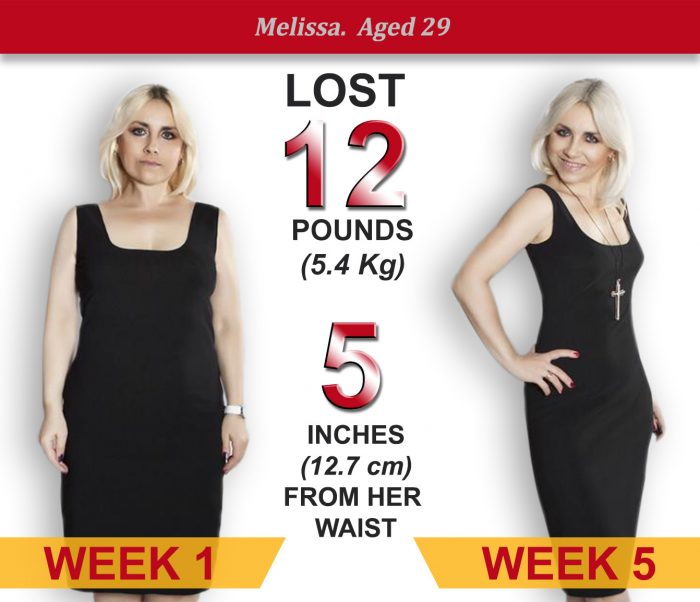 Melissa, aged 29, lost 12 pounds in 5 weeks