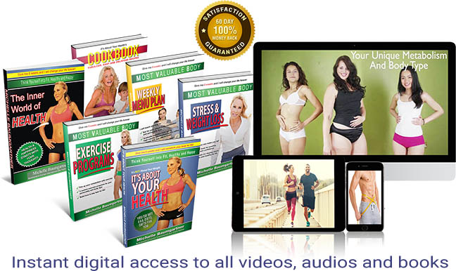 """MVB-Health. coaching videos and audios, action-orientated workshops, and cooking, exercise and """"mind"""" training classes"""