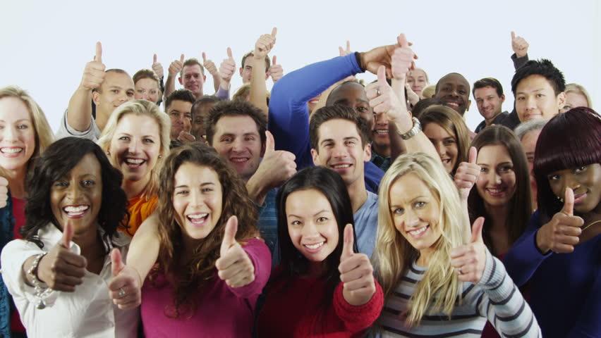 Happy People, Thumbs up. MVB-Health.
